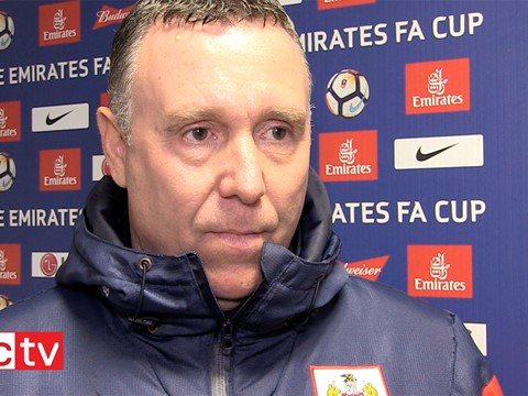 Video: Brian Tinnion Post-Watford away (Emirates FA Cup)