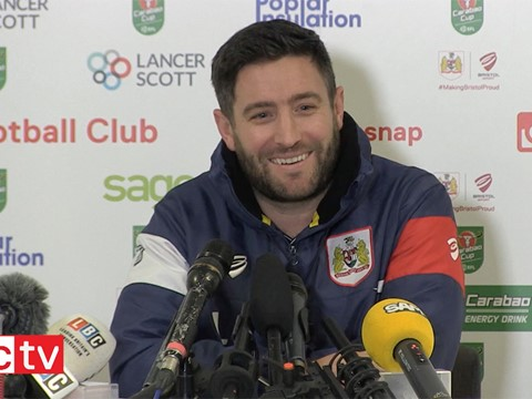 Video: Lee Johnson Pre-Manchester City Press conference