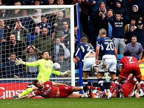 Goals: Millwall 2-0 Bristol City