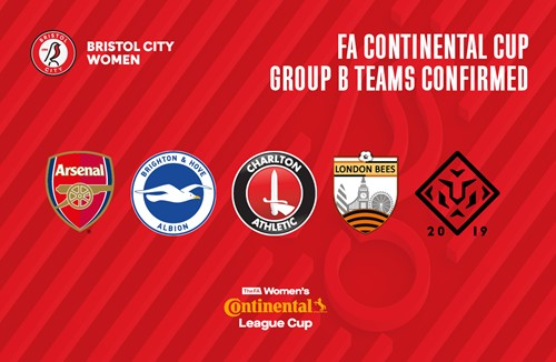 City Women's Continental Cup group confirmed
