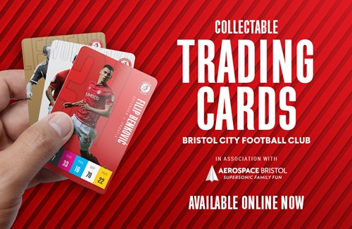 Supersonic 'trading' with Bristol City cards